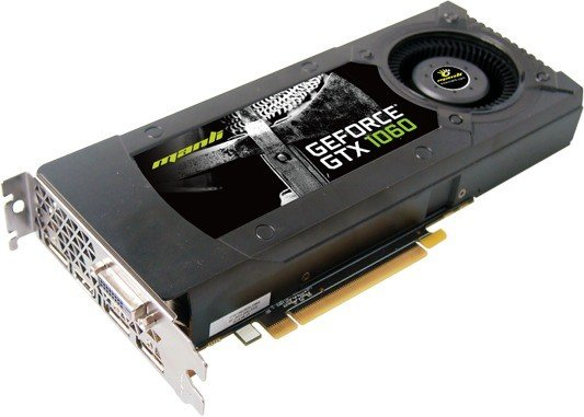 Manli GeForce GTX 1060 Blower Fan, 6GB GDDR5, DVI, HDMI, 3x DP (M-NGTX1060/5REHDPPP)