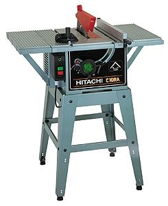 Hitachi C10ra Table Circular Saw With Floor Stand Skinflint Price Comparison Uk