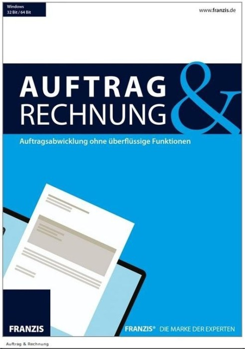 Franzis Auftrag Rechnung Deutsch Pc Office Software