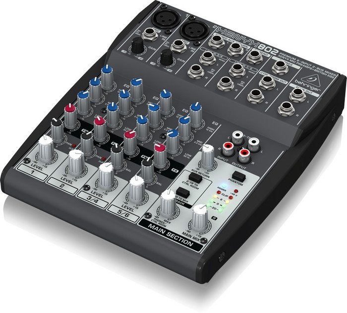 Behringer Xenyx 802 analog mixer -- © Copyright 200x, Behringer International GmbH