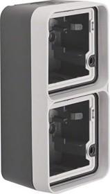 Berker W.1 case 2 x vertical with frame AP, grey/light grey matte (6719333505)