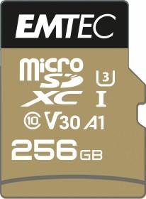 Emtec SpeedIN PRO R95/W85 microSDXC 256GB Kit, UHS-I U3, A1, Class 10 (ECMSDM256GXC10SP)