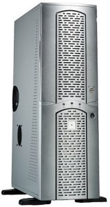 Chieftec matrix MA-01SLD Big-Tower with door, silver (various Power Supplies)