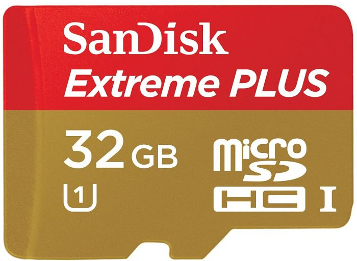 SanDisk Extreme PLUS R80/W50 microSDHC 32GB Kit, UHS-I, Class 10 (SDSDQX-032G-U46A)
