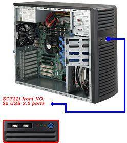 Supermicro 731i-500B schwarz, 500W ATX