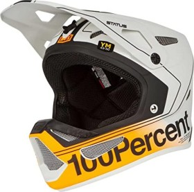 100% Status Fullface-Helm charby/silver (Junior) (80010-465)