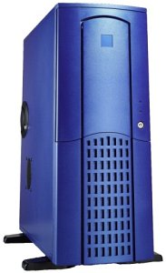 Chieftec Winner WX-01BLD Midi-Tower with door, blue (various Power Supplies)