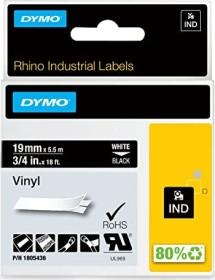 Dymo ID1 Industrial Rhino Pro labelling tape 19mm, white/black (1805436)
