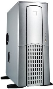 Chieftec Winner WX-01SLD Midi-Tower with door, silver (various Power Supplies)
