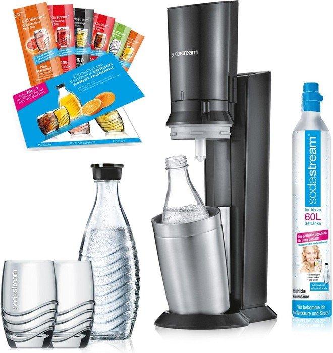 SodaStream Crystal 2.0 schwarz Promopack Trinkwassersprudler (1216512493)