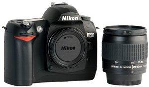 Nikon D70 black with lens AF 28-80mm 3.3-5.6G (VBA104K1)