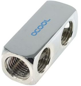 "Alphacool HF distributing connector 5-shelf 1/4"", chrome (17026)"
