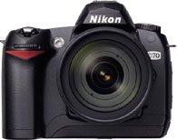 Nikon D70 czarny z obiektywem innej marki