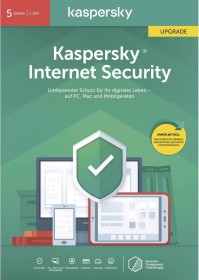 Kaspersky Lab Internet Security 2020, 5 User, 1 Jahr, Update, PKC (deutsch) (Multi-Device) (KL1939G5EFR-20)