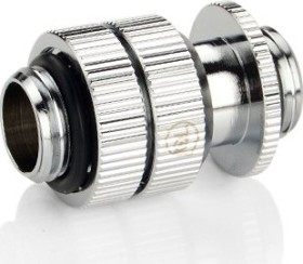 """Bitspower Touchaqua Link Adapter Female 1/4"""", 16-22mm verstellbar, Glorious Silver, 2er-Pack (TA-GFALP1622-GS)"""
