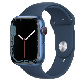 Apple Watch Series 7 (GPS + Cellular) 45mm Aluminium blau mit Sportarmband abyssblau (MKJT3FD)