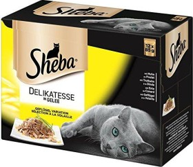 Sheba Delikatesse in Gelee, Geflügel Variation 1.02kg (12x 85g)