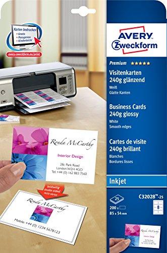 Visitenkarten Avery Zweckform Premium Visitenkarten Glänzend