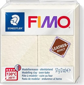 Staedtler Fimo Soft 57g leather effect elfenbein (8010-029)