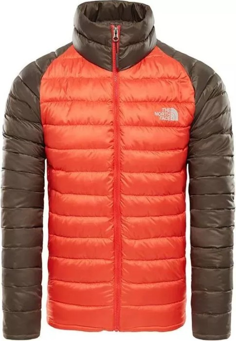 bca46f90d312 The North Face Trevail Jacket fiery red bittersweet brown (men) (39N5-