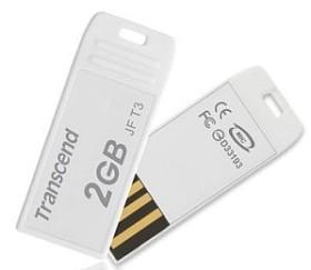 Transcend JetFlash T3 weiß 2GB, USB-A 2.0 (TS2GJFT3W)