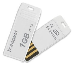 Transcend JetFlash T3 weiß 1GB, USB-A 2.0 (TS1GJFT3W)