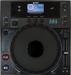 Gemini CDJ-203 CD-Turntable schwarz
