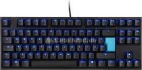 Ducky One 2 TKL PBT schwarz, LEDs blau, MX BROWN, USB, DE (DKON1887S-BDEPDAZB1)