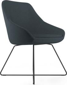 Viasit Calyx Loungesessel Kufengestell schwarz, Bezug Step schwarz (CA-K5000.6)