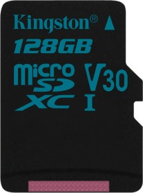 Kingston Canvas Go! R90/W45 microSDXC 128GB, UHS-I U3, Class 10 (SDCG2/128GBSP)
