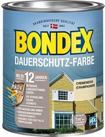 Bondex Dauerschutz-Farbe Holzschutzmittel cremeweiß/champagner, 750ml (329878)
