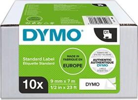 Dymo D1 label-making tape 9mm, black/white, 10-pack (2093096)