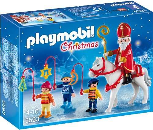 playmobil weihnachten st nikolaus mit laternenzug 5593. Black Bedroom Furniture Sets. Home Design Ideas