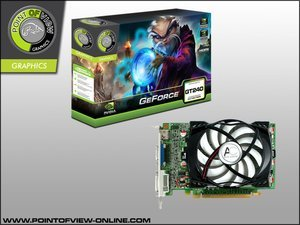 Point of View GeForce GT 240, 512MB DDR3, VGA, DVI, HDMI (R-VGA150931-GD3)
