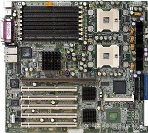 Supermicro X5DPE-G2, iE7501 (dual Xeon, dual PC-2100 reg ECC DDR)