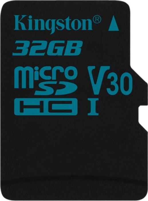 Kingston Canvas Go! R90/W45 microSDHC 32GB, UHS-I U3, Class 10 (SDCG2/32GBSP)
