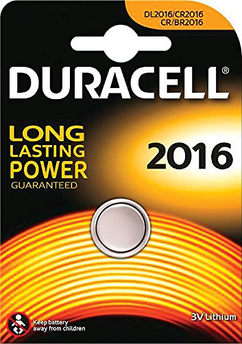 Duracell CR2016 round cell, Lithium, 3V -- via Amazon Partnerprogramm
