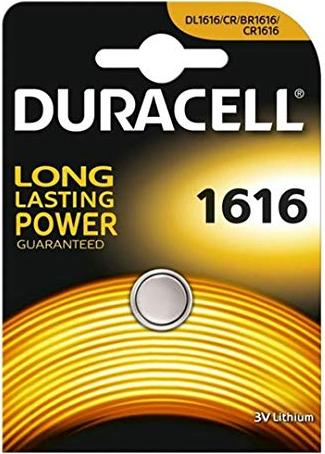 Duracell CR1616 round cell, Lithium, 3V -- via Amazon Partnerprogramm