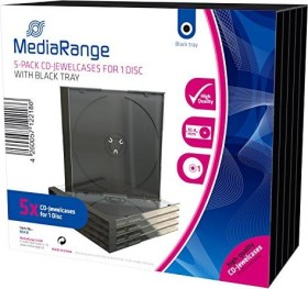 MediaRange CD-empty shell Jewelcase 5 pieces black (BOX31)