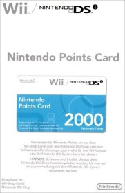 Nintendo Wii 2000 Points Card (Wii)