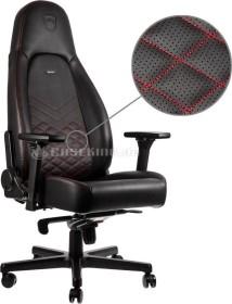 noblechairs Icon Gamingstuhl, schwarz/rot (NBL-ICN-PU-BRD)