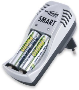 Ansmann Smart set incl. 2x Mignon AA NiMH 1000mAh Batteries (5107373)