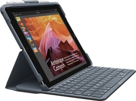 Logitech slim Folio (5th/6th gen), KeyboardDock for Apple iPad, black, DE (920-009018)