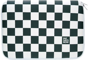 "Pat Says Now Checker Flag sleeve 9"" black/white (7151)"