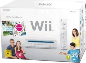 Nintendo Wii Family Edition Horizontal Bundle weiß