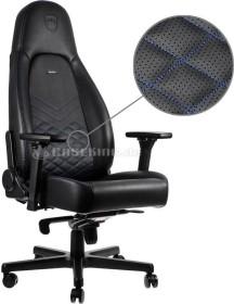 noblechairs Icon Gamingstuhl, schwarz/blau (NBL-ICN-PU-BBL)