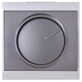 Kopp Malta Dimmer-Abdeckung für Druck-Wechseldimmer, anthrazit/silber (312315188)
