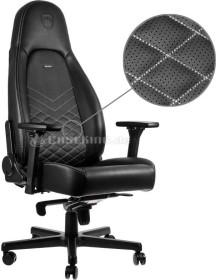 noblechairs Icon Gamingstuhl, schwarz/weiß (NBL-ICN-PU-BPW)