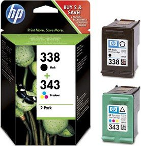 HP Printhead with ink 338+343 black/tricolour (SD449EE)