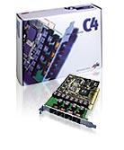 AVM C4, aktywne, kanałów: 8, 16MB RAM, wewn./PCI (20001778)